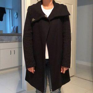 Zara navy jacket with studded sleeves